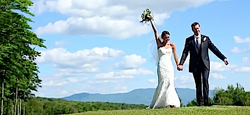Wedding Couple filmed by Video-Vernont